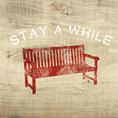 Stay A While- Art By Linda Woods Art Print by Linda Woods