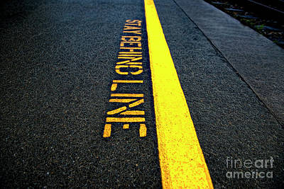 Photograph - Stay Behind The Line by David Arment