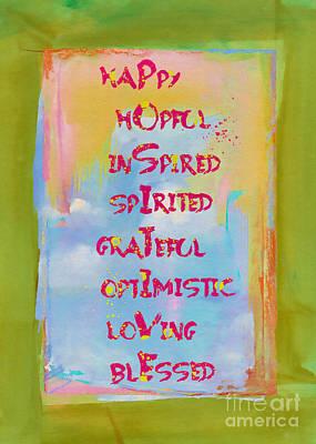 Mixed Media - Stay Positive by Olga Hamilton