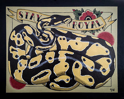 Ball Python Painting - Stay Royal Ball Python by Donovan Winterberg