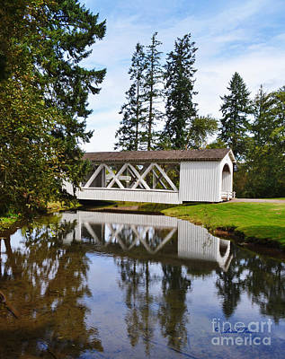 Photograph - Stayton-jordon Covered Bridge by Ansel Price