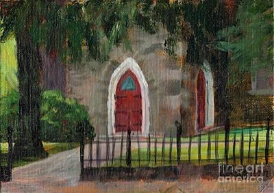 Painting - Ste Ann's Church by Claire Gagnon