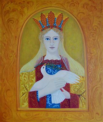 Art Print featuring the painting Ste-marie-geest by Tone Aanderaa