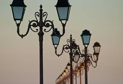 Photograph - Ste-maries-de-la-mer Boardwalk Lamps by Jani Freimann