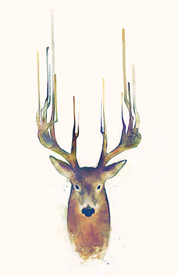 Stags Painting - Steadfast by Amy Hamilton