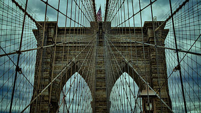 Photograph - Steadfast - Brooklyn Bridge by Stephen Stookey