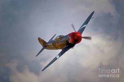 Planes Of Fame Photograph - Steadfast Russian Yak Fighter And Will Whiteside Chino Air Show 2011 by Gus McCrea