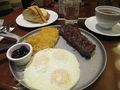 Photograph - Steak And Eggs by Kay Novy