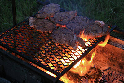 Photograph - Steaks For The Cowboys by Toni Hopper