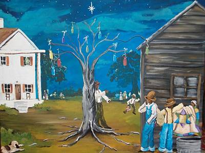 Gullah Geechee Painting - Steal Away by Sonja Griffin Evans