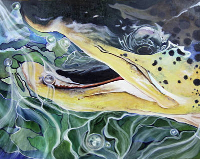 Brown Trout Painting - Stealth Brown by Lacey Hermiston