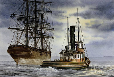 Painting - Steam And Sail Heritage by James Williamson