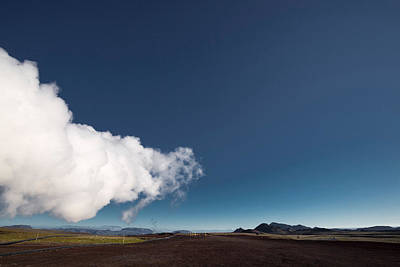 Steam At Namaskard- Geothermal Volcanic Art Print by Panoramic Images