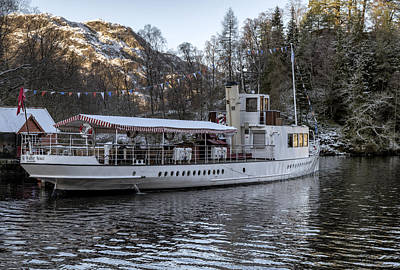 Photograph - Steam Boat On Loch Katrine by Jeremy Lavender Photography