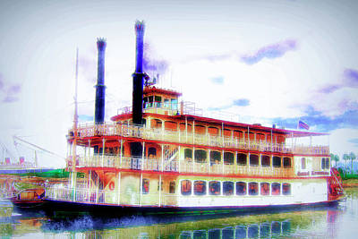 Mixed Media - Steam Boat by Joseph Hollingsworth