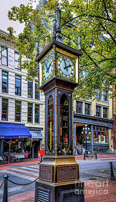 Photograph - Steam Clock by Jon Burch Photography