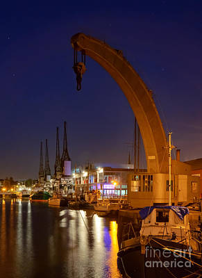 Photograph - Steam Crane And Cranes, Bristol Harbour by Colin Rayner