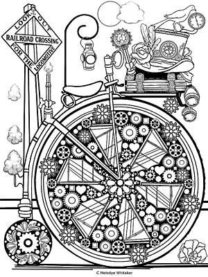 Drawing - Steam Cycle by Melodye Whitaker