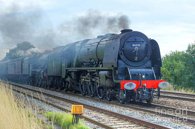 Photograph - Steam Double Header by David Birchall