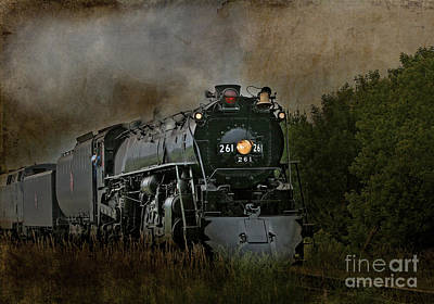 Steam Engine 261 Art Print