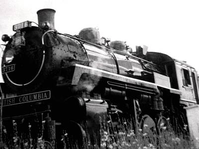 Photograph - Steam Engine 3716 Monochrome by Will Borden