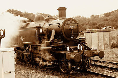 Photograph - Steam Engine 41312 Sepia by Phyllis Taylor