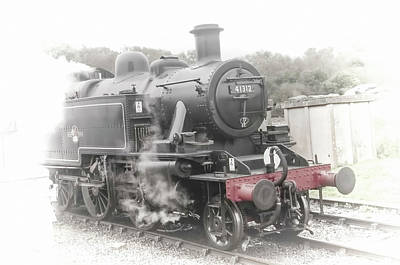 Photograph - Steam Engine 41312 Vintage No 2 by Phyllis Taylor