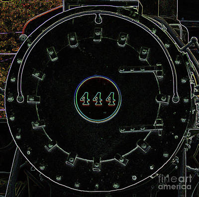 Kim Digital Art - Steam Engine 444 by Kim Pate