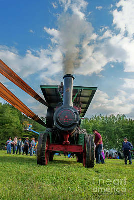 Photograph - Steam Engine And Thrasher Belt by David Arment
