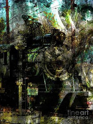 Steam Engine At Bay Art Print by Robert Ball