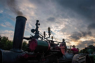 Photograph - Steam Engine At Nightfall by David Arment