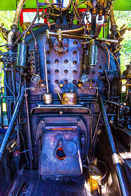 Steam Engine Cab Art Print by Garry Gay