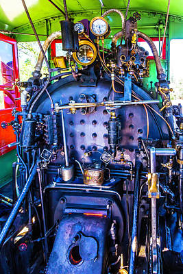 Steam Engine Controls Art Print by Garry Gay