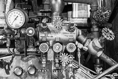 Photograph - Steam Engine Controls by Jeff Abrahamson