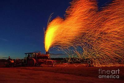 Photograph - Steam Engine Creates Fireworks by David Arment