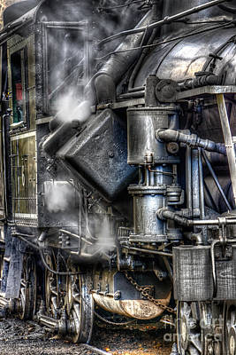 Steam Engine Detail Art Print by Jerry Fornarotto
