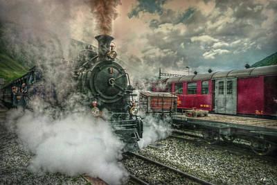 Steam Engine Art Print by Hanny Heim