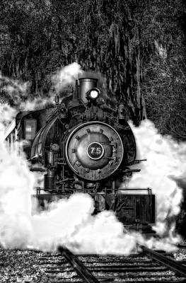 Photograph - Steam Engine Jan 2016 In Hdr by Michael White