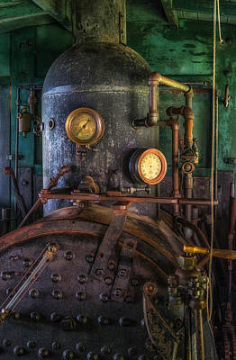 Guage Photograph - Steam Engine by Mark Papke