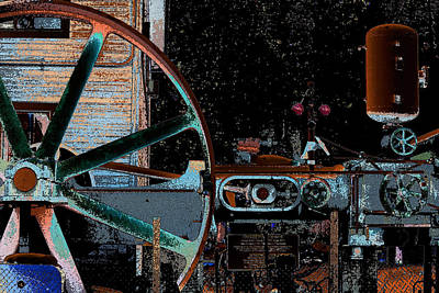 Steampunk Royalty-Free and Rights-Managed Images - Steam Engine by Marnie Patchett