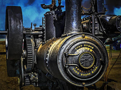 Keck Photograph - Steam Engine Port Huron by F Leblanc