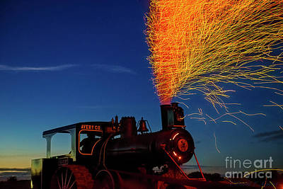 Photograph - Steam Engine Sparks 2016 by David Arment