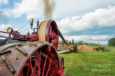 Photograph - Steam Engine Threshing by David Arment