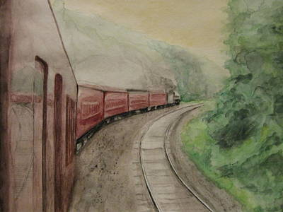 Steam Excursion Art Print by Diana Prout