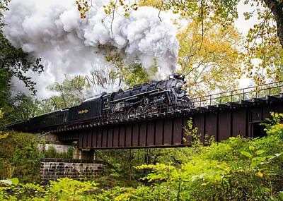 Steam In The Valley II  Art Print