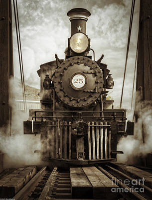 Steampunk Royalty-Free and Rights-Managed Images - Steam Locomotive 2 by Mitch Shindelbower