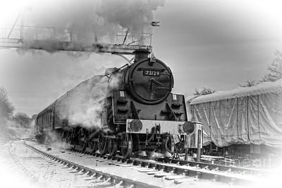 Photograph - Steam Locomotive 73129 by David Birchall