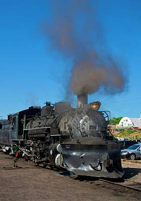 Steam Locomotive - Chama - New Mexico Art Print by Steven Ralser