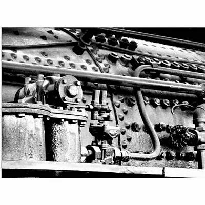 Train Photograph - Steam Locomotive Detail by Karyn Robinson