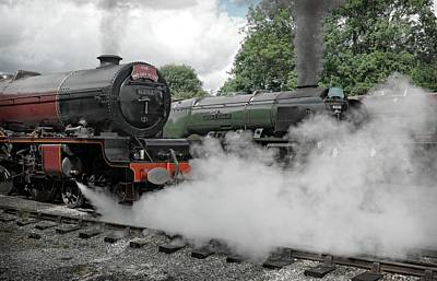 Photograph - Steam Locomotive Drama by David Birchall